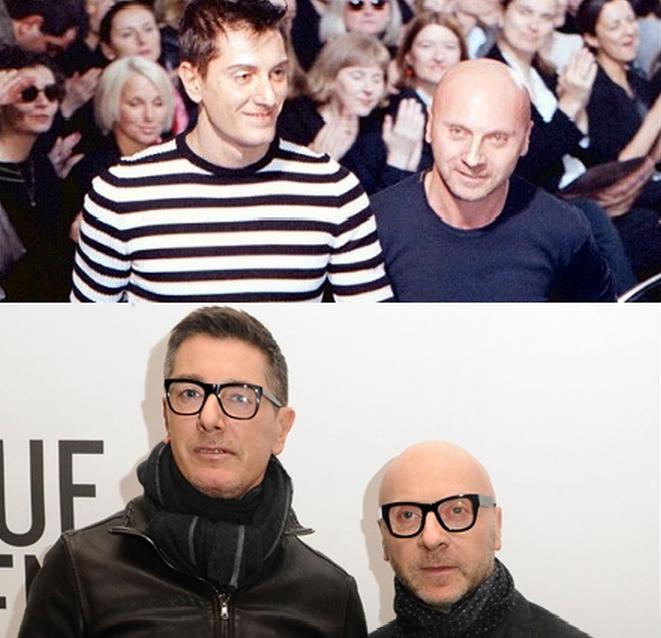 Domenico Dolce e Stefano Gabbana: a dupla passou quase intácta ao tempo. Compare os estilistas em 1998 e 2001