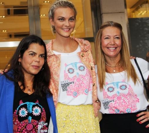 Diretora de redação da Vogue Brasil, Donata Meirelles, diretora de estilo, e a top Carol Trentini, madrinha do evento!